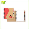 2014 hot eco-friendly promotional recycled notebook with ball pen