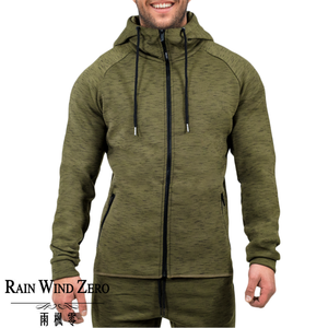 Gold Supplier OEM servise winter training men hoodie ,zipper green color thick fabric for men tapered fit hoodie