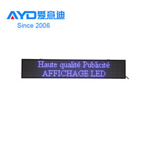 Made in China Indoor/ Outdoor P6 RGB Programmable Scrolling Board Custom LED Sign