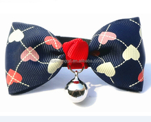 Beautiful cute pet bowtie collar with bell for small puppy dog and cat