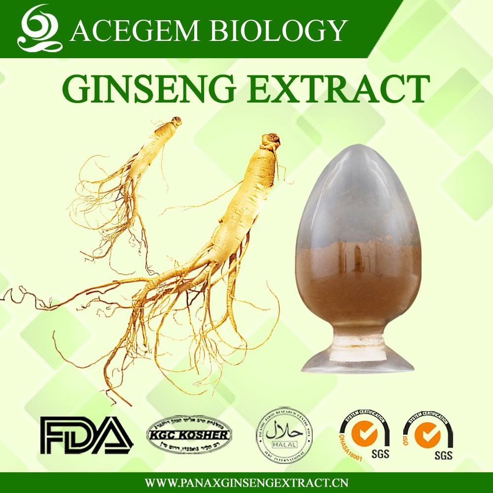 100% soluble in water panax ginseng root extract 80% ginsenosides