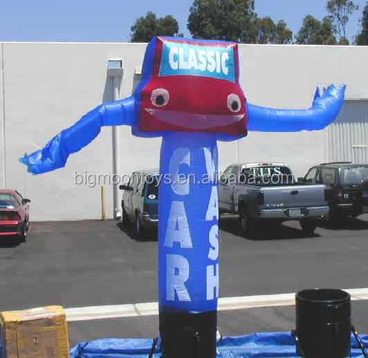 inflatable wave man with car sign / advertising air man