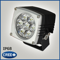 35W High power ATV/Jeep/boat/suv/truck/car/atvs light Off Road Waterproof Led Work Flood Light Bar Black Color