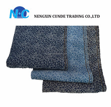 32S*32S Comfortable cotton denim fabric Dot point pattern design for denim bag/denim dress