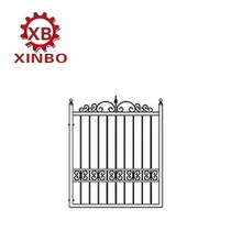 wrought iron main door metal garden single gate steel small door
