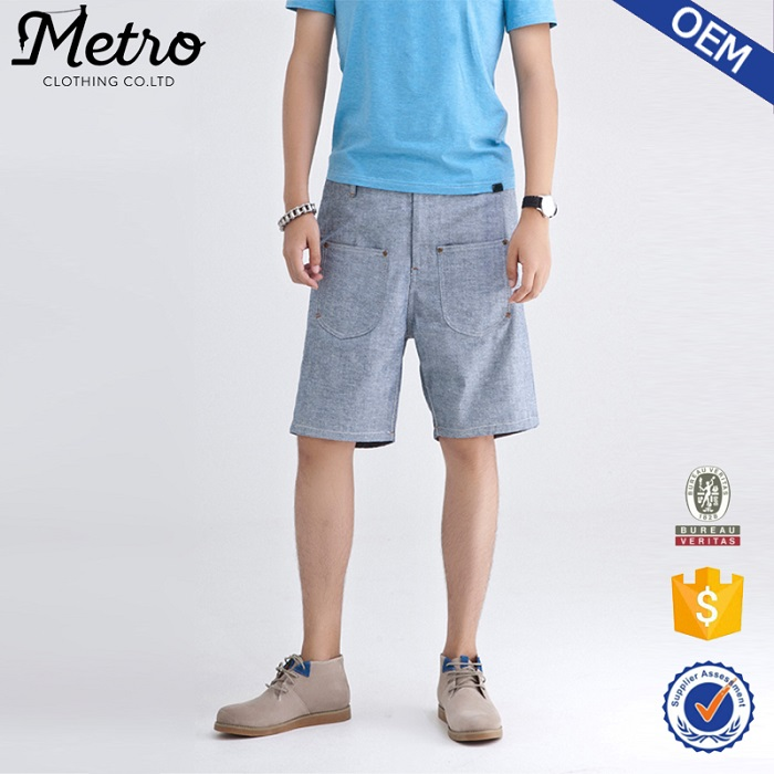 Latest design cotton cargo shorts loose bermuda shorts
