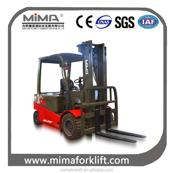 China top MIMA 4-wheel electric forklift truck in anhui hefei