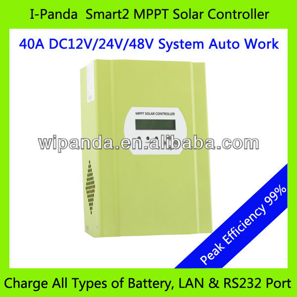 With LCD Display 12V 24V 48V 40A MPPT Solar Charge Controller