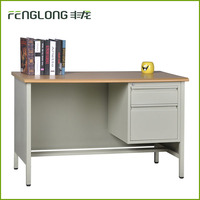 Office/School/Home Metal Computer Writing Desk/Table with Drawers wooden desktop