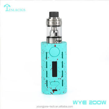 Newest product Tesla WYE 200W vape box mod with ABS+PC material
