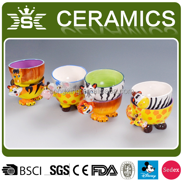 cute animal shaped ceramic lacquer bowl vietnam