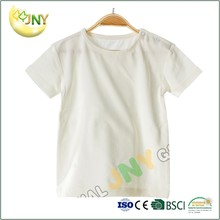 Factory price supply Simple short sleeve plain white blank baby t shirt wholesale