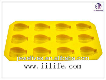 Custom shaped silicone ice cube mould