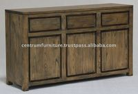 3 Door 3 Drawer Solid Oak Timber Amsterdam Sideboard