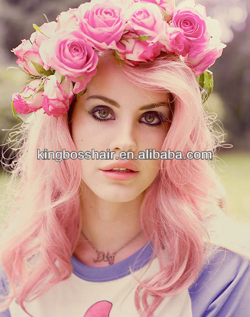 popular color new arrival all length available pink color 100% human hair weaving low price