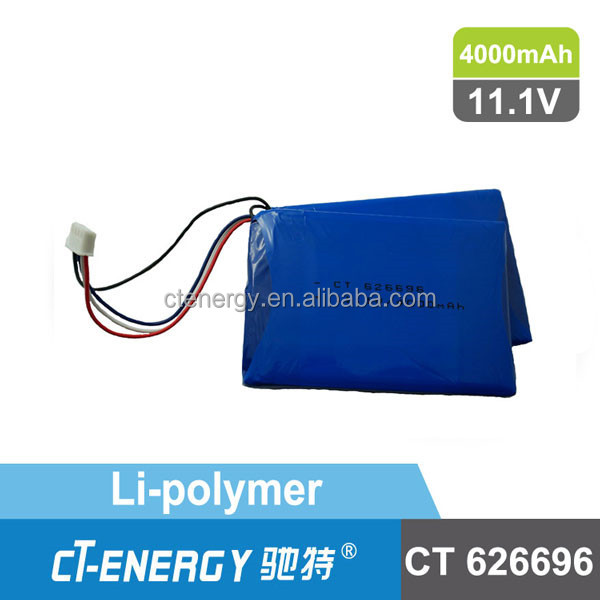 626696 lithium ion battery pack 3.7V with 4000mAh for portable power bank
