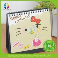 Eco Friendly Yearly Small Desktop Spiral-bound Free To Print Desk Calendar
