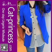 High quality stylish boutique royal blue women formal blazer suit