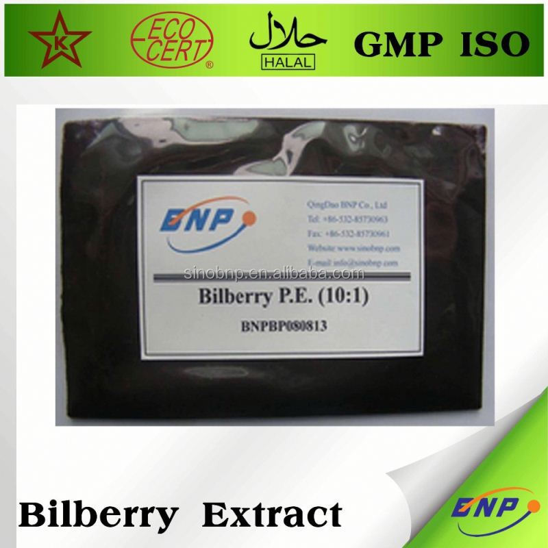 factory supply100% natural bilberry p.e.
