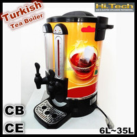 Two tap turkish stainless steel tea maker tea boiler water boiler tea urn 6-35 Liters with CB&CE