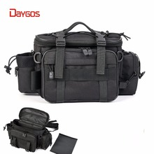 Fishing Bag Men Women Multifunctional Waterproof Outdoor Waist Shoulder Bag Case Reel Lure Storage Bag Fishing Tackle