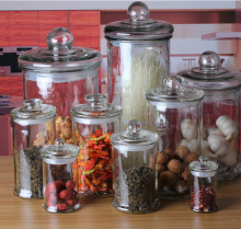 Wholesale glass jars lids and glass jar with lid and Large glass storage jars
