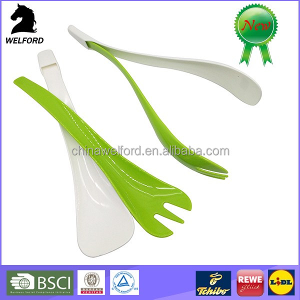 Eco-friendly serving spoon plastic salad spoon and fork