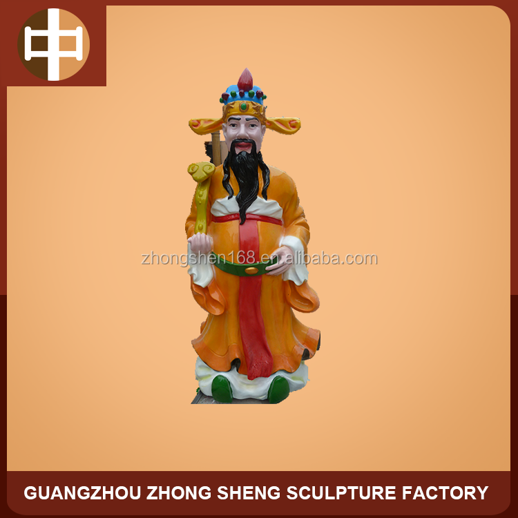 FRP fortune god statue for indoor decorative