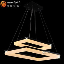 EXCLUSIVE LED Modern Acrylic Chrome Chandelier Ceiling Pendant Lights Lamp shade OXD8816