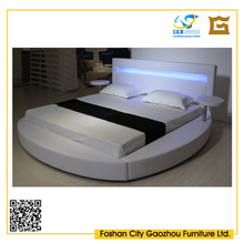 King size & high quality bed frame for bedroom furniture with LED
