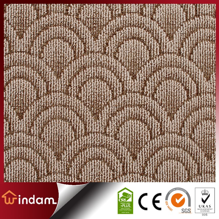 WDE-703 modern pattern PP loop pile machine tufted broadloom carpet