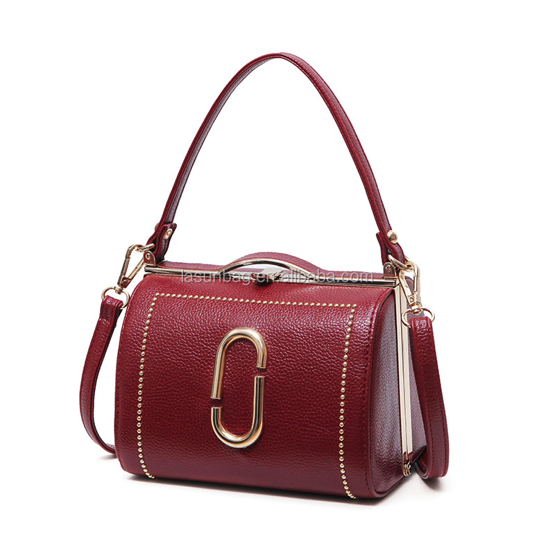 No name plain leather handbag for women wholesale small shoulder bags