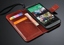 High Quality fashion Flip PU Leather Case For HTC one M8 Crazy Horse Pattern Back Cover Case for HTC M8