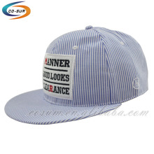 custom brand New arrived wholesale stripe pattern fashion cotton sports cap
