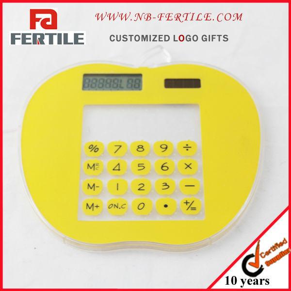Apple shape transparent calculator promotion gift