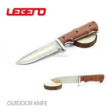 HK320 High quality full tang fixed blade military tactical knife combat gun knife hunting survival knife with wood handle