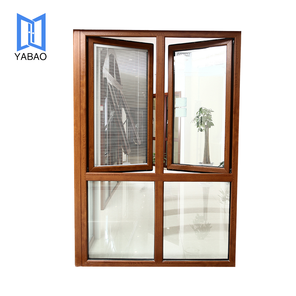 Customized Double Glazed PVC Casement Windows for Home