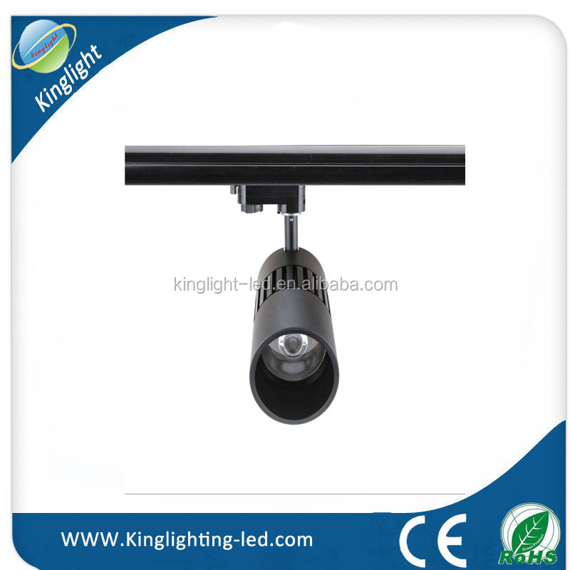 Cheap Manufacture Price High Lumen 35W dimmable cob light rail with CE and RoHS approved CRI92 led spot light rail