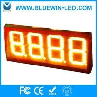 2017 high brightness and quality fuel station led digital gas price sign hot selling in alibaba