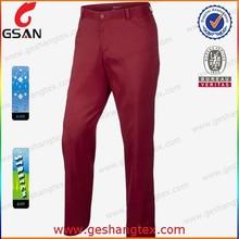 Men dry fit super light weight men golf trousers