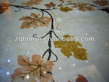 Custom Design Marble Stone Grape Leaves Pattern for Floors