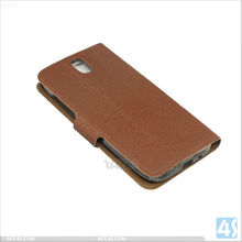 genuine leather case for mobile phone Wallet leather case with card slot for ZTE GRAND MEMON 5 P-ZTEN5CASE001