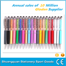 Promotional wholesale Metal pen different colors diamond ballpoint pen manufacturer creative funny ballpen
