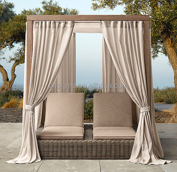 2015 hot sale grey provence canopy double chaise garden. Black Bedroom Furniture Sets. Home Design Ideas