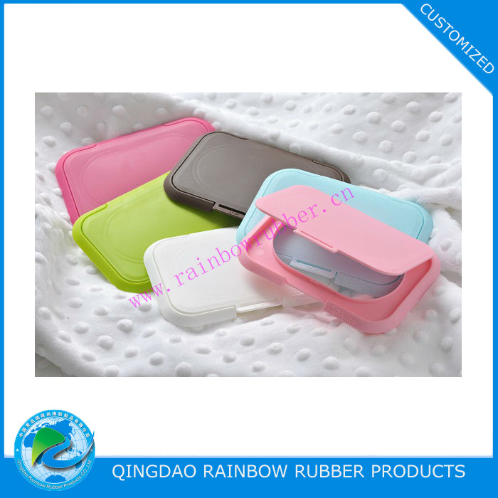 Colorful custom made plastic cover of baby wet wipes