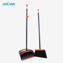Durable Dust Pan And Brush , House Cleaning Plastic Broom Dustpan