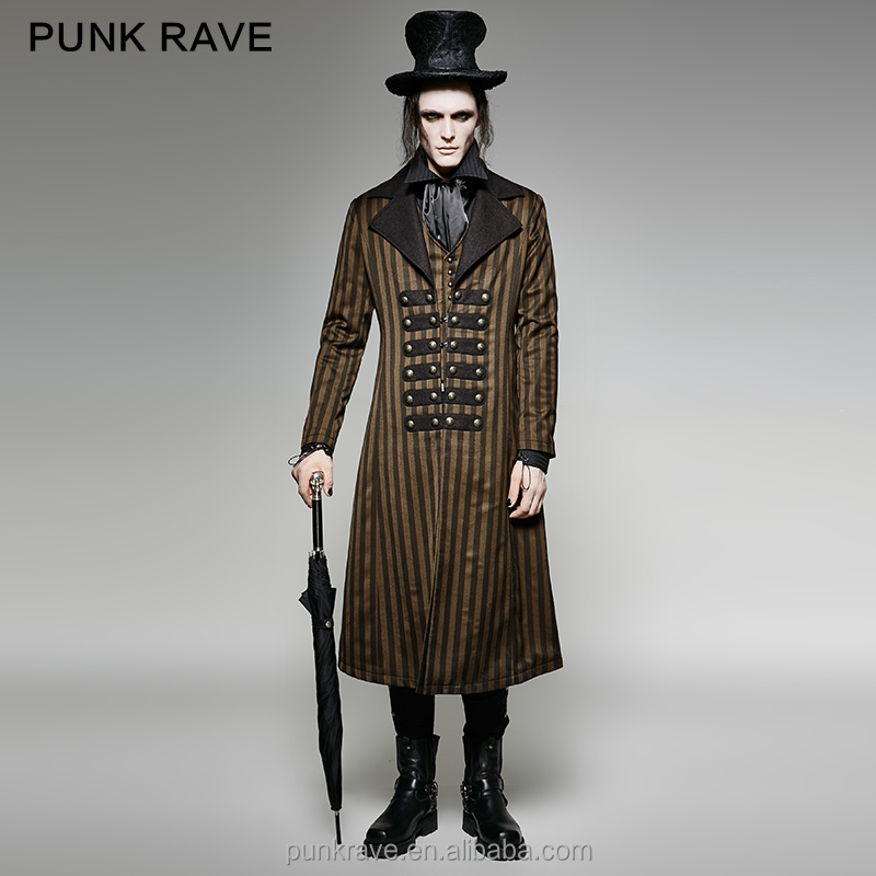 Y-717 PUNK RAVE Brand Steampunk Classical Stripe Luxury Suits Woven Jacket
