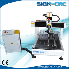 4 axis 6090 3d cnc wood carving machine for wooden stone glass metal