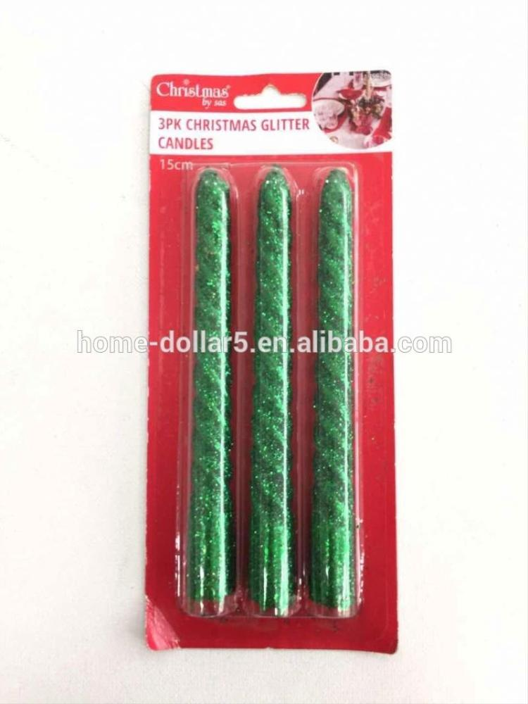 Christmas decorative spiral taper candles