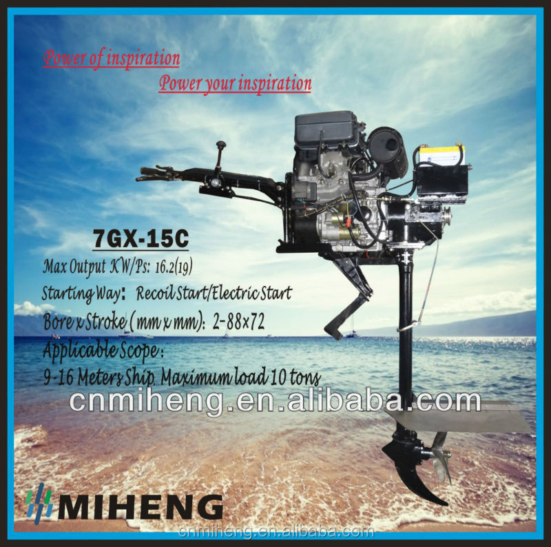 MIHENG 20HP 7GX-15C-AC electric outboard motor boat (4HP-20HP)